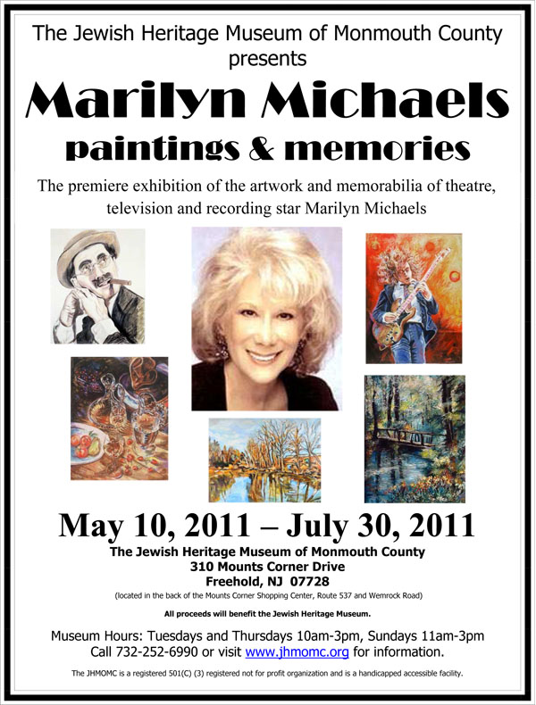 Jewish Heritage Museum of Monmouth County presents Marilyn Michaels paintings and memories